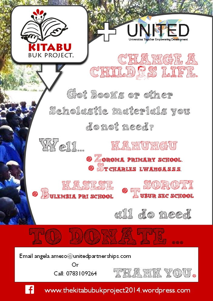 Kitabu Buk Poster with Contact Details