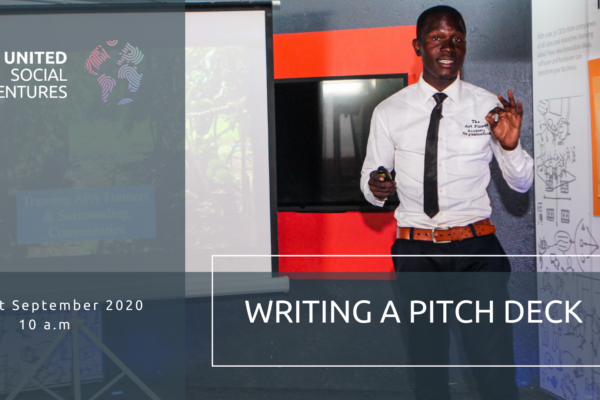 Writing a pitch deck